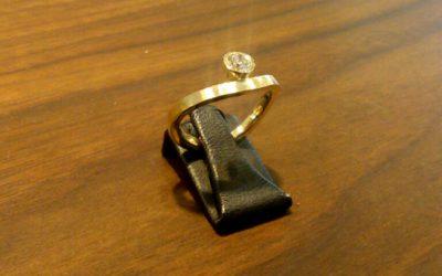 Verlobungsring aus 585/-Gelbgold mit Brillant