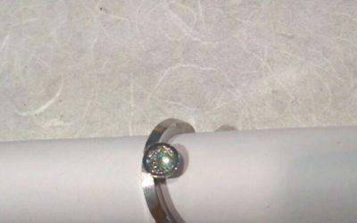 Verlobungsring 585/-Weißgold mit Brillant